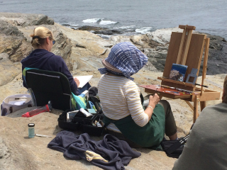 Friends_painting_on_the_shore
