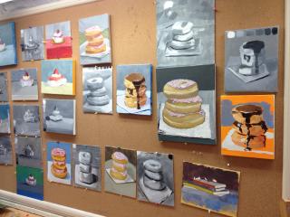 Still life painting class